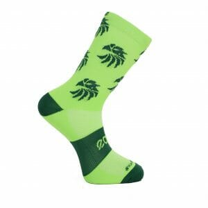 calcetines ciclismo verde fluor