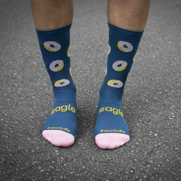 socks correr divertidos colores