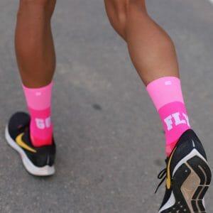 calcetines running rosa