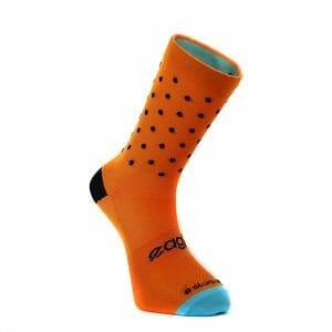 calcetines naranja ciclismo puntos