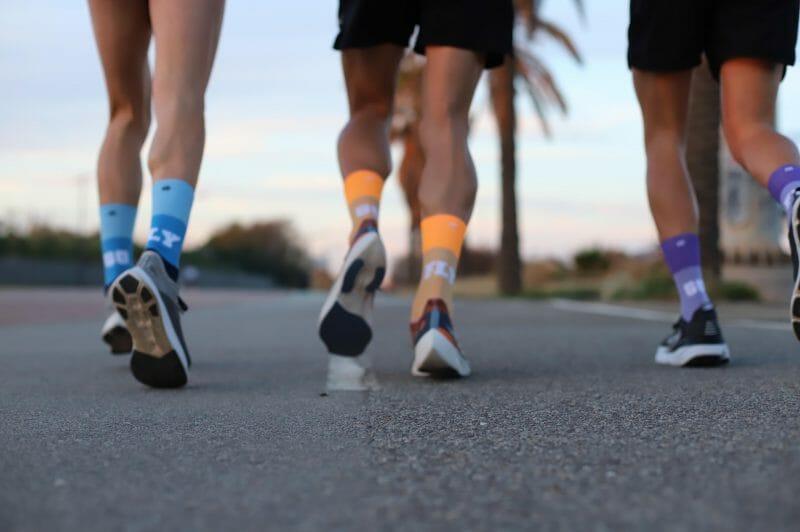 calcetín para correr