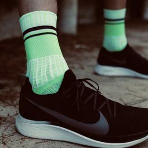 calcetines verde fluor running
