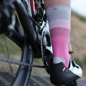 calcetines ciclismo rosas
