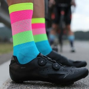 calcetines ciclismo fluor