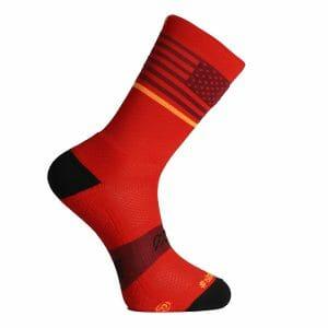 calcetines para running rojos