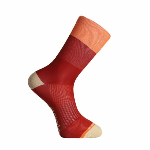 calcetin para correr rojo