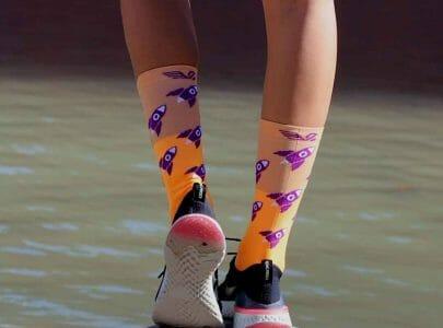 Calcetines divertidos para hacer deporte