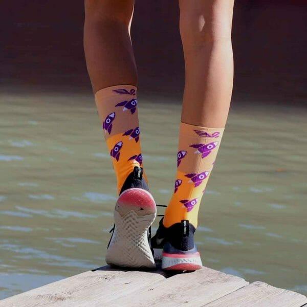 calcetines divertidos para deporte
