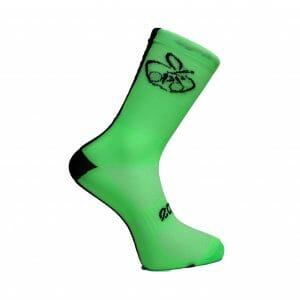 calcetin de ciclismo fluor